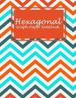 Hexagonal Graph Paper Notebook: Beauty Colorful Book, 1/4 inch Hexagons Graph Paper Notebooks Large Print 8.5