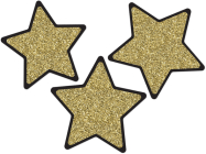 Sparkle and Shine Solid Gold Glitter Stars Cut-Outs Cover Image