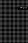 Autobiography Lifestyle Journal, Blank Write-in Notebook, Dotted Lines, Wide Ruled, Size (A5) 6 x 9 In (Gray) Cover Image