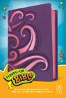 Hands-On Bible NLT (Leatherlike, Purple/Pink Swirls) Cover Image