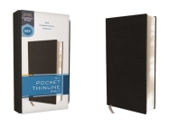 Niv, Pocket Thinline Bible, Bonded Leather, Black, Red Letter, Comfort Print Cover Image