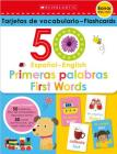 50 Spanish-English First Words Flashcards: Scholastic Early Learners (Flashcards) Cover Image