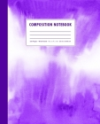 Composition Notebook: Violet Purple Watercolor Ombre Cover Wide Ruled Cover Image