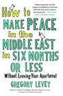 How to Make Peace in the Middle East in Six Months or Less: Without Leaving Your Apartment Cover Image