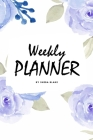 Weekly Planner - Blue Interior (6x9 Softcover Log Book / Tracker / Planner) Cover Image