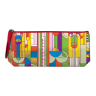 Frank Lloyd Wright Saguaro Cactus and Forms Handmade Embroidered Pencil Pouch Cover Image