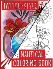 Tattoo-Style nautical coloring book Cover Image