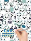 Cat Coloring Pencils: 50 Cute Cat to Color For Relaxation Cover Image