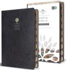 Biblia Reina Valera 1960 letra grande. Símilpiel negro, índice, tamaño manual / Spanish Bible RVR 1960.Handy Size, Thumb Index, Large Print, Black Leathe Cover Image