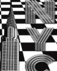 checker board New York City Chrysler Building creative drawing journal Cover Image