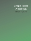 Graph Paper Notebook: 1 Inch Squares - Large (8.5 x 11 Inch) - 150 Pages - Green/White Cover Cover Image