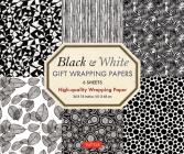 Black & White Gift Wrapping Papers 6 Sheets: High-Quality 24 X 18 Inch (61 X 45 CM) Wrapping Paper Cover Image