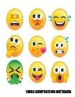 Wide Ruled Composition Book: Emoji composition notebook college ruled- Emoji notebook for kids, girls-Perfect composition notebook for work, school Cover Image