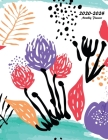 2020-2024 Monthly Planner: Large Five Year Planner with Floral Cover (Volume 5) Cover Image