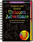 Scratch & Sketch Unicorn Adventure: An Art Activity Book for Creative Kids of All Ages [With Pens/Pencils] Cover Image