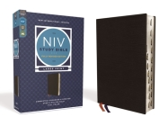 NIV Study Bible, Fully Revised Edition, Large Print, Bonded Leather, Black, Red Letter, Thumb Indexed, Comfort Print Cover Image