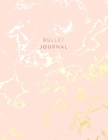 Bullet Journal: Beautiful Pink Marble and Gold - 8.5 x 11 - 100 pages - Dot Grid Bullet Journal Notebook, Gift for Women and Teen Girl Cover Image
