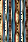 Password Book: Include Alphabetical Index with Stripes Hand Drawn Tribal Colorful Cover Image