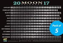 2017 Moon Calendar Card (5-pack): Lunar Phases, Eclipses, and More! Cover Image
