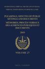 Pleadings, Minutes of Public Sittings and Documents / Mémoires, Procès-Verbaux Des Audiences Publiques Et Documents, Volume 27 (2019) Cover Image