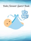 Baby Shower Guest Book: It's a Boy, Baby Elephant Guestbook, Gift Tracker Log and Keepsake Pages Cover Image