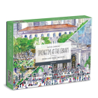 Michael Storrings Springtime at the Library 500 Piece Double-Sided Puzzle Cover Image