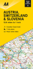 Road Map Austria, Switzerland & Slovenia (Road Map Europe) Cover Image