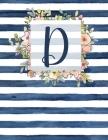 D: Letter D Monogram Initial Notebook - 8.5