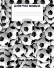 Graph Paper Notebook: Soccer; 4 squares per inch; 50 sheets/100 pages; 8