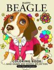 Happy Beagle Coloring Book: Dog coloring book for dog and puppy lover Cover Image