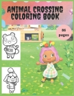 Animal Crossing: Coloring book for kids and adults with calming graphics Cover Image