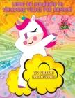 Libro da colorare di unicorno felice per bambini: Adorabili unicorni 50 adorabili disegni di unicorno per ragazzi e ragazze Per bambini dai 2 anni in Cover Image