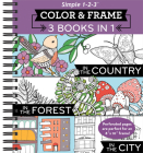 Color & Frame - 3 Books in 1 - Country, Forest, City (Adult Coloring Book) Cover Image