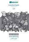 BABADADA black-and-white, Australian English - Pashto (in arabic script), visual dictionary - visual dictionary (in arabic script): Australian English Cover Image