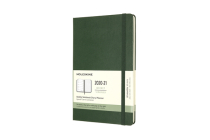 Moleskine 2020-21 Weekly Planner, 18M, Large, Myrtle Green, Hard Cover (5 x 8.25) Cover Image