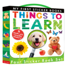Things to Learn: Four Sticker Book Set (My First) Cover Image