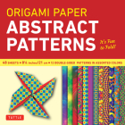 Origami Paper - Abstract Patterns - 8 1/4 - 48 Sheets: Tuttle Origami Paper: High-Quality Large Origami Sheets Printed with 12 Different Designs: Inst Cover Image