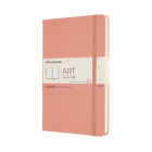 Moleskine Art Logbook, Large, Coral Pink, Hard Cover (5 X 8.25) Cover Image