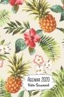 Agenda 2020 Vista Semanal: 12 Meses Programacion Semanal Calendario en Espanol Diseno Piñas y Hibisco Cover Image