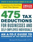 475 Tax Deductions for Businesses and Self-Employed Individuals: An A-To-Z Guide to Hundreds of Tax Write-Offs Cover Image
