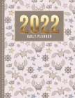 2022 Daily Planner: One Page Per Day Diary / Happy Face Crab - Ocean Animal Art Pattern / Dated Large 365 Day Journal / Date Book With Not Cover Image