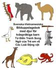 Svenska-Vietnamesiska Bilduppslagsbok med djur för tvåspråkiga barn Cover Image