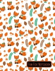 Fun Fox Notebook: 8.5 x 11 Cute Red Fox Themed Wide Ruled Notebook For All Your Home, School And Business Note Needs Cover Image