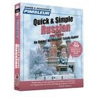 Pimsleur Russian Quick & Simple Course - Level 1 Lessons 1-8 CD: Learn to Speak and Understand Russian with Pimsleur Language Programs Cover Image