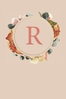R: Peach Monogram Sketchbook - 110 Sketchbook Pages (6 x 9) - Floral Watercolor Monogram Sketch Notebook - Personalized I Cover Image