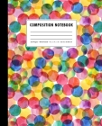 Composition Notebook: Colorful Watercolor Polka Dot Cover Wide Ruled Cover Image