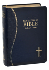 New Catholic Bible Med. Print Dura Lux (Blue) Cover Image