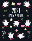 Penguin Daily Planner 2021: Keep Track of All Your Weekly Appointments! - Cute Large Black Year Agenda Calendar with Monthly Spread Views - Funny Cover Image