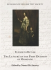 The Letters of the First Duchess of Ormonde (Renaissance English Text Society #40) Cover Image