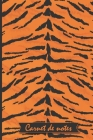 Carnet de notes Tigre 15 x 23 cm: Carnet de notes motif animalier, carnet ligné 120 pages, couverture souple, finition mate Cover Image
